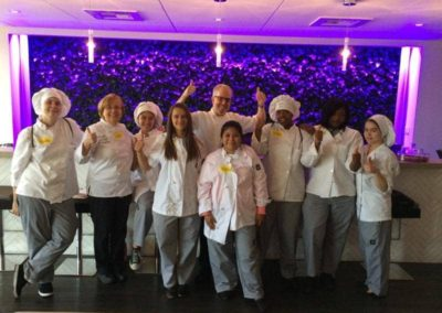 group of culinary students taking picture