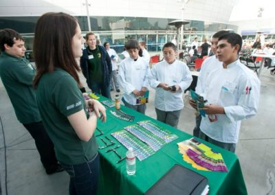 culinary students at booth