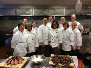 chefs taking group picture