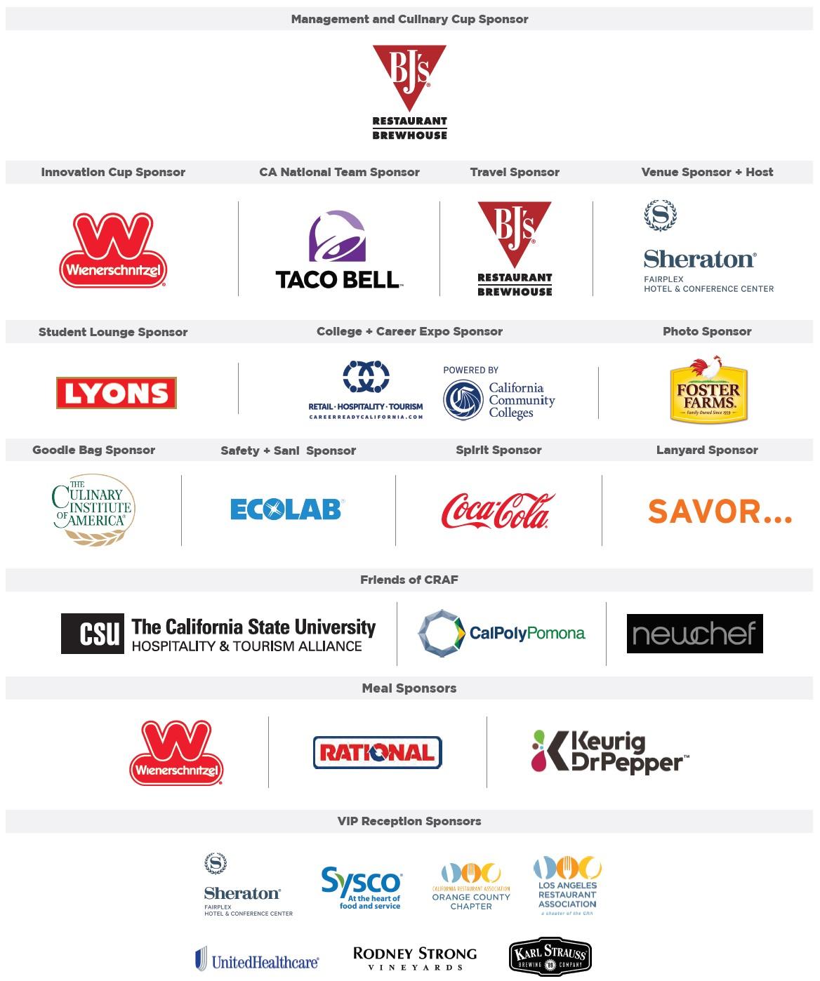 2020 Prostart Sponsors