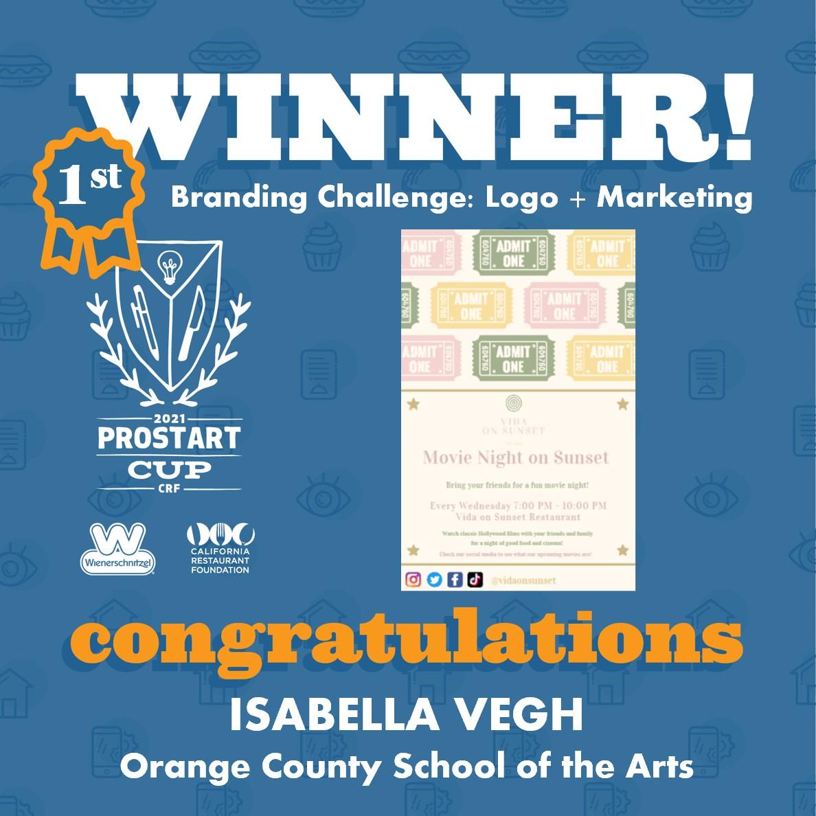 2021 ProStart Winner - Branding Challenge: Logo + Marketing - 1st Place