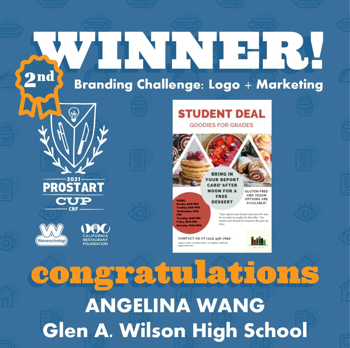 2021 ProStart Winner - Branding Challenge: Logo + Marketing - 2nd Place