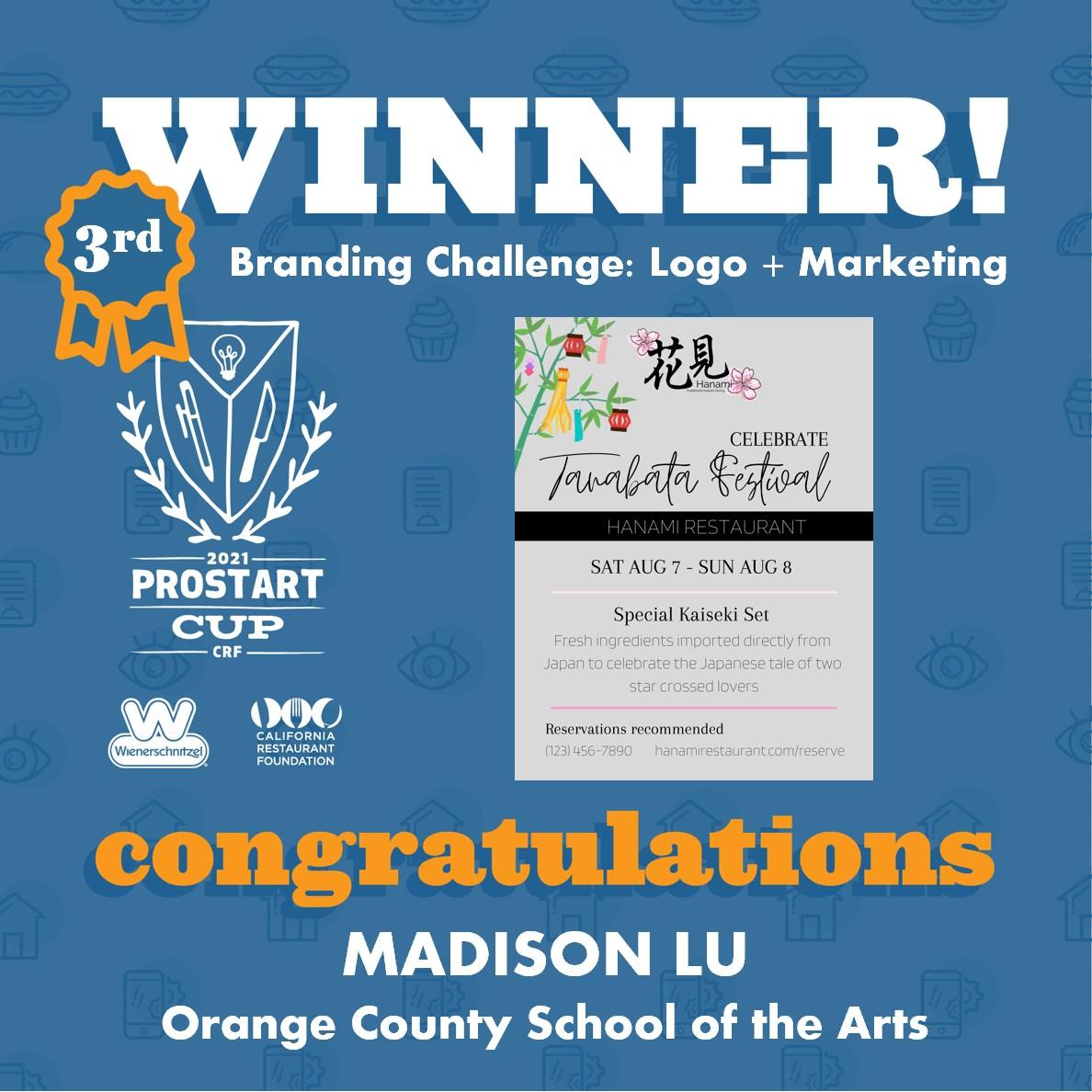 2021 ProStart Winner - Branding Challenge: Logo + Marketing - 3rd Place