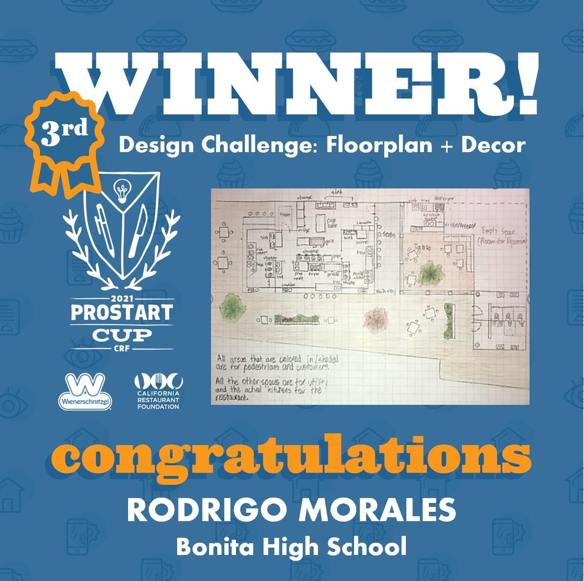 2021 ProStart Winner - Design Challenge: Floorplan + Décor - 3rd Place