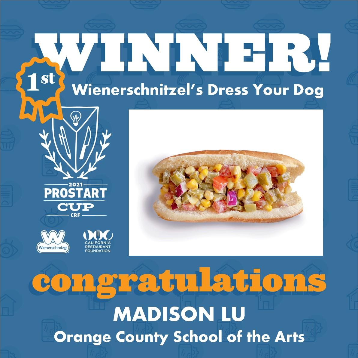 2021 ProStart Winner - Hot dog