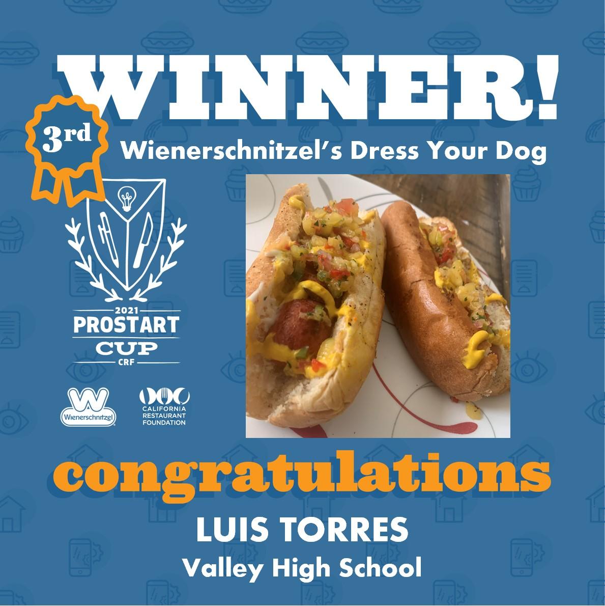 2021 ProStart Winner - Hot dog - 3rd Place