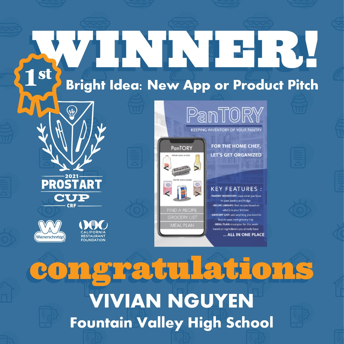 2021 ProStart Winner - Bright Idea: New App + Product Pitch - 1st Place