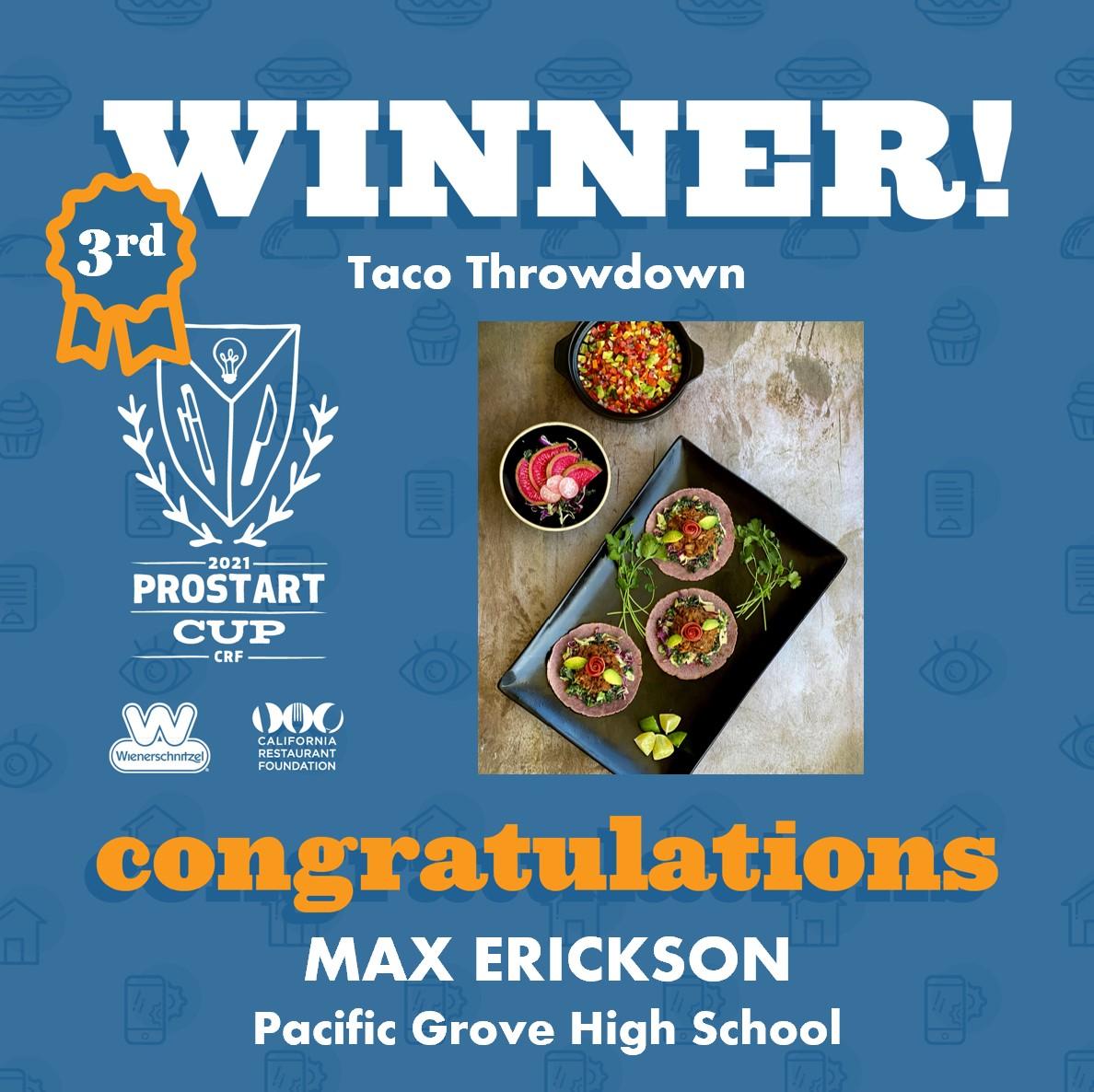2021 ProStart Winner - Taco - 3rd Place