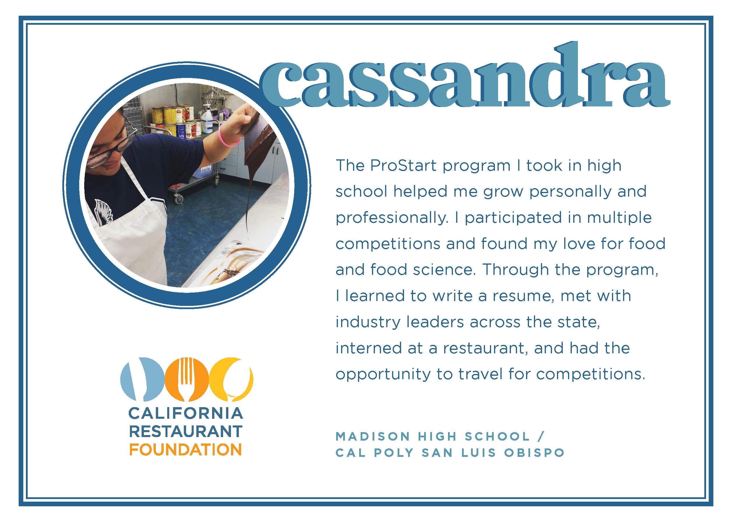 2021 Student Testimonials - Cassandra