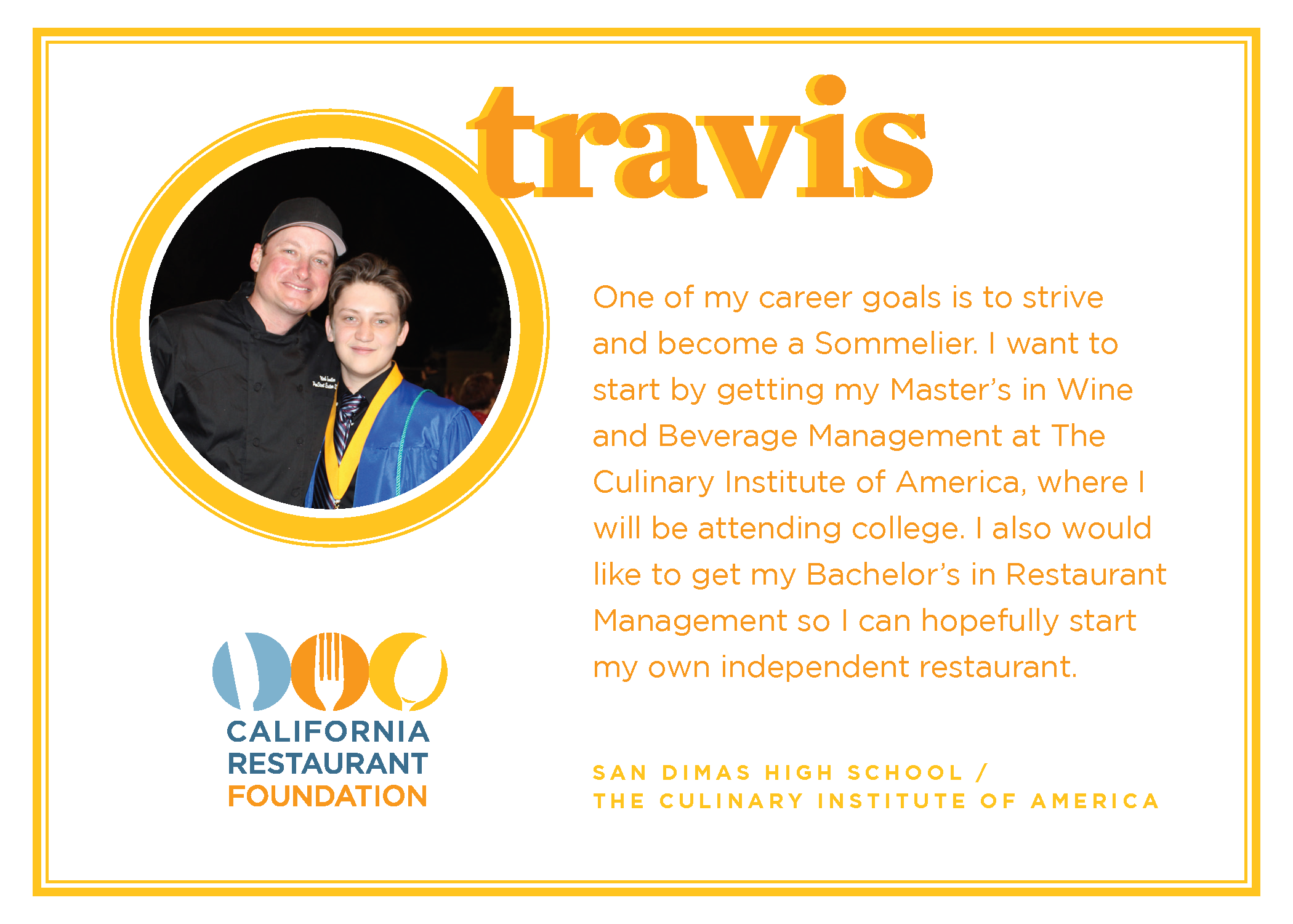 2021 Student Testimonials - Travis