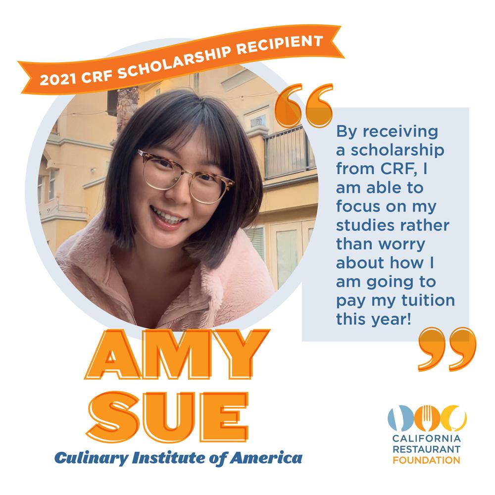 Amy Sue 2021 Scholar