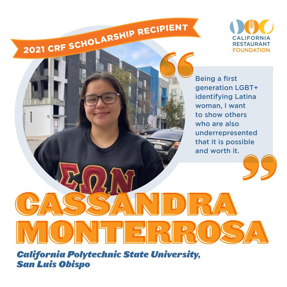 Cassandra Monterrosa 2021 Scholar